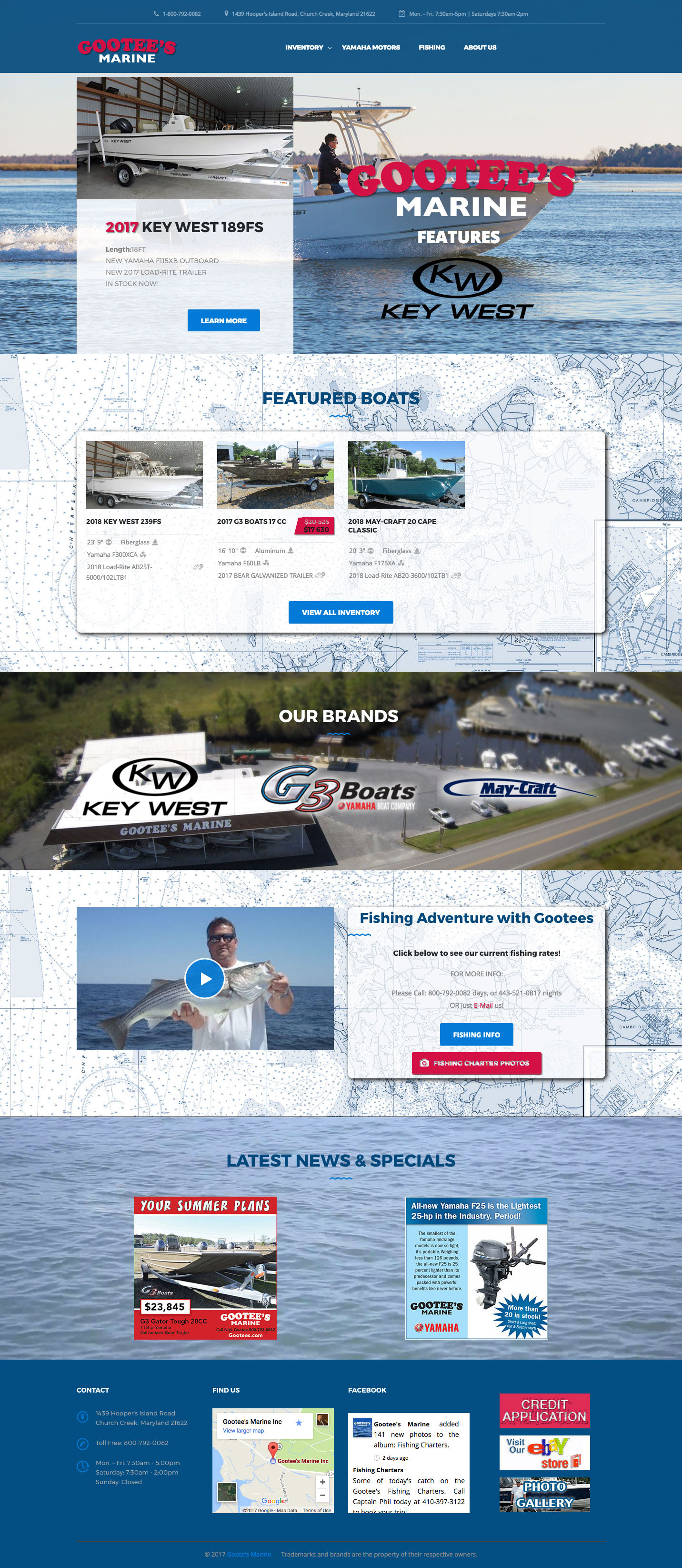 Marine Dealership Website