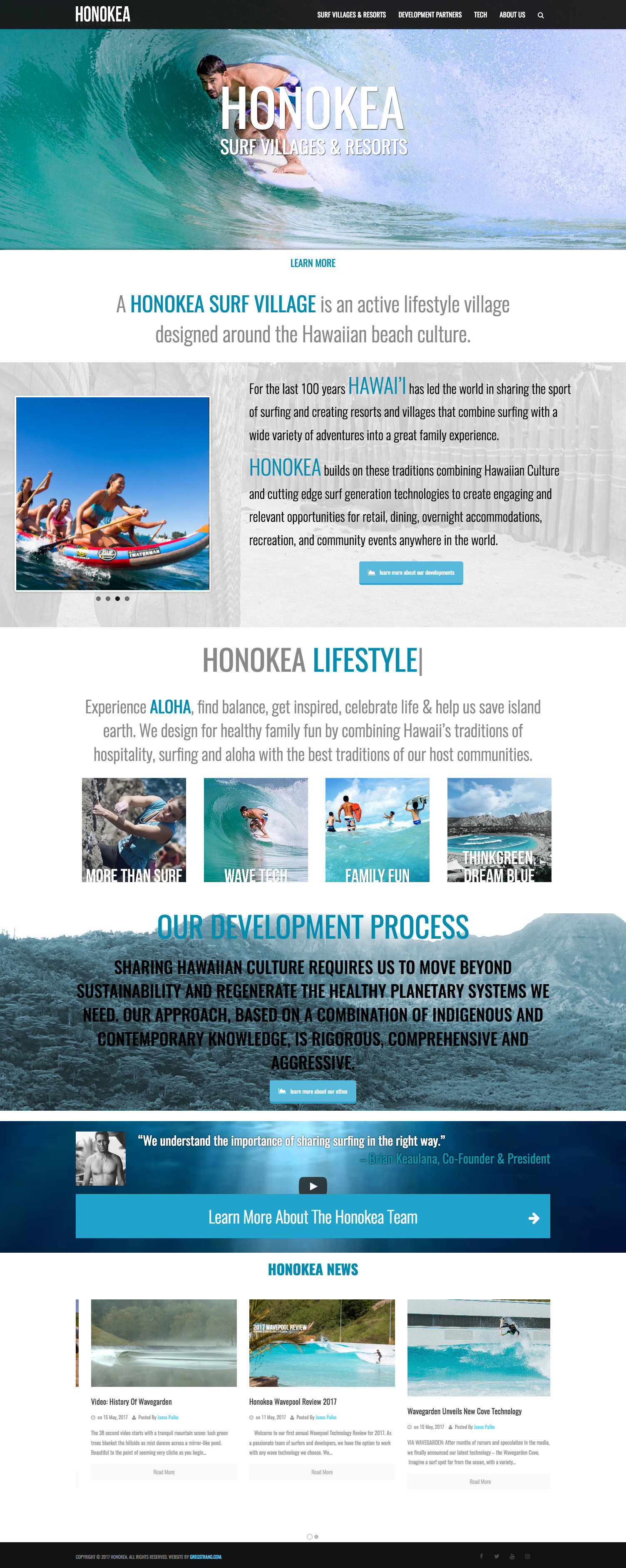 Honokea Surf Villages & Resorts Website
